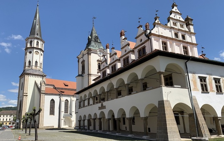 LEVOCA town – church of St. James and former renaissance town hall